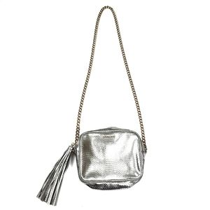 Victoria's Secret Silver Fringe Crossbody Bag